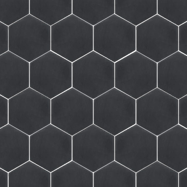 Solid Black Hexagon
