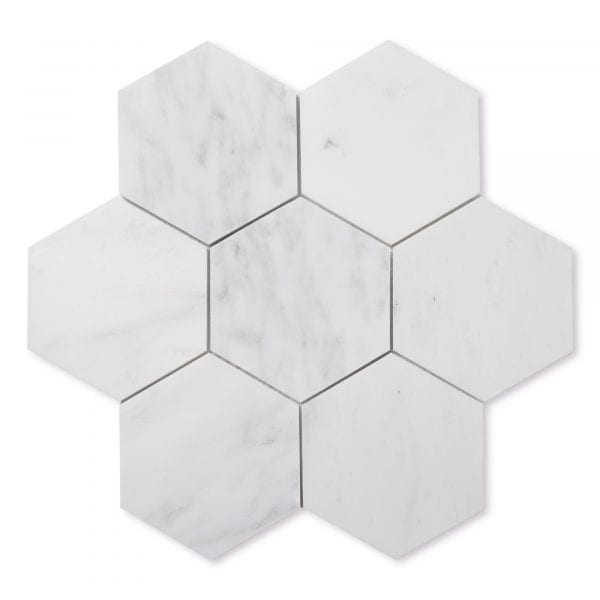 Sample: Carrara Bianco Marble - Honed - 5