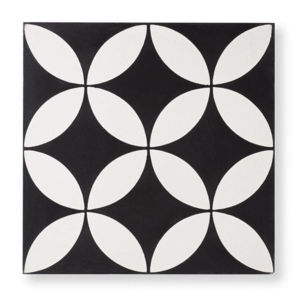 Sample: Circulos Black Tile