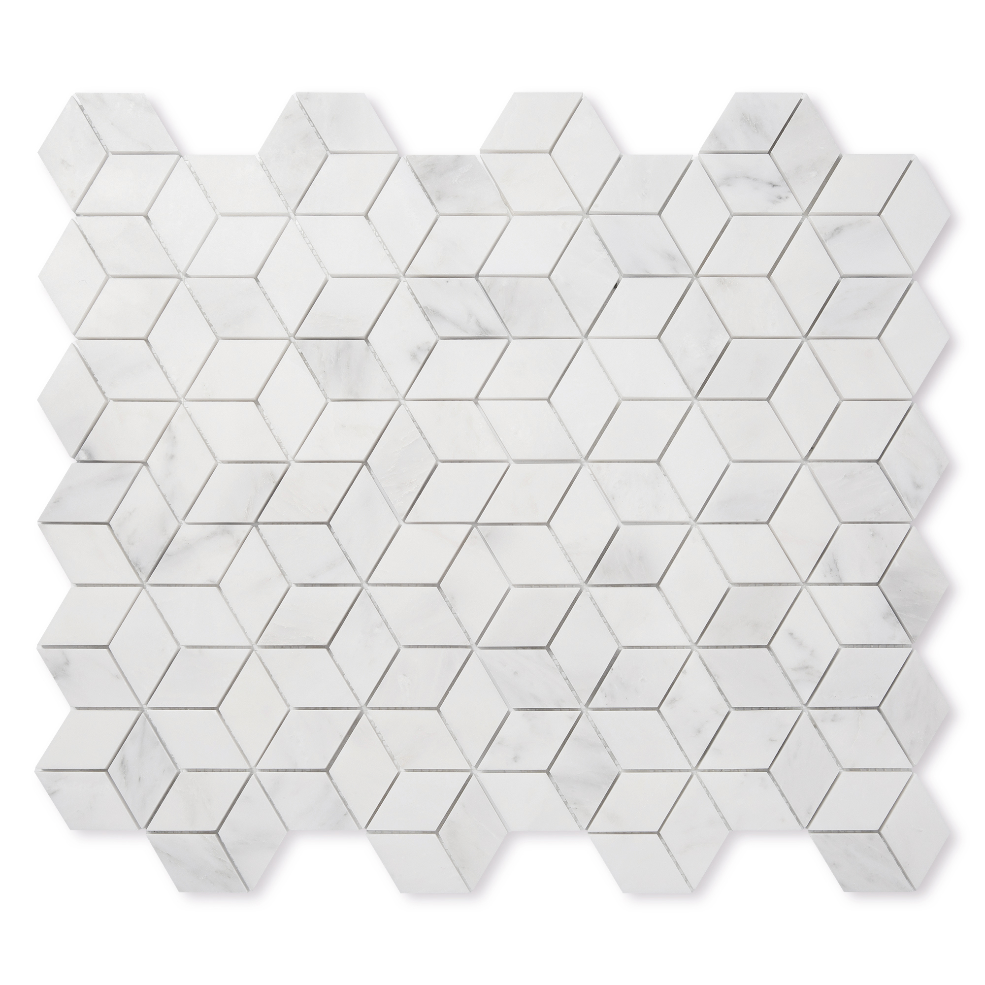 Casablanca Carrara Marble - Honed - Diamond Mosaic