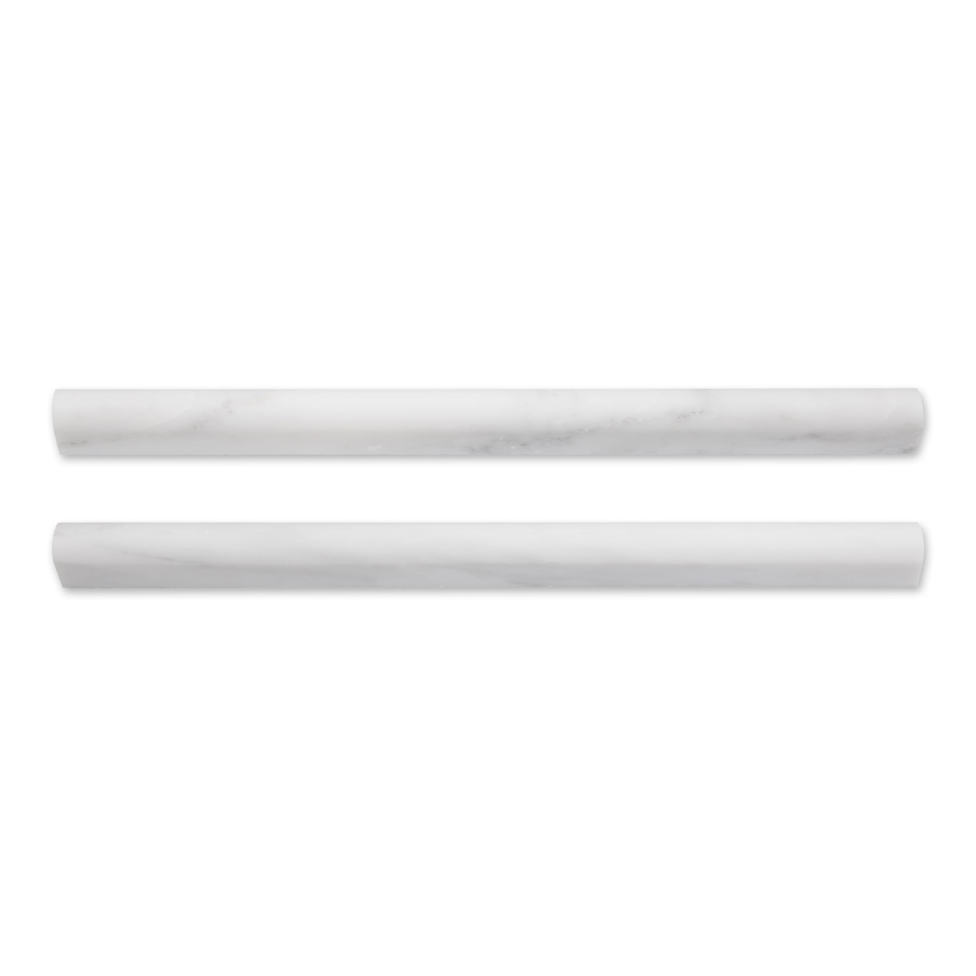 Casablanca Carrara Marble - Honed - Pencil Trim 3/4
