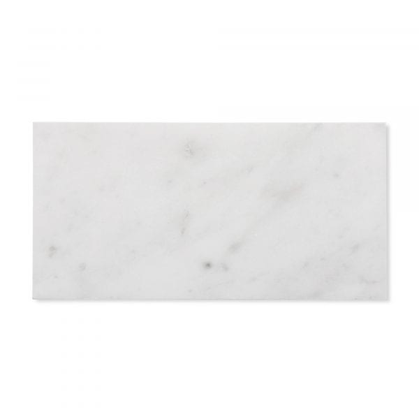 Sample: Carrara Bianco Marble - Honed - 4