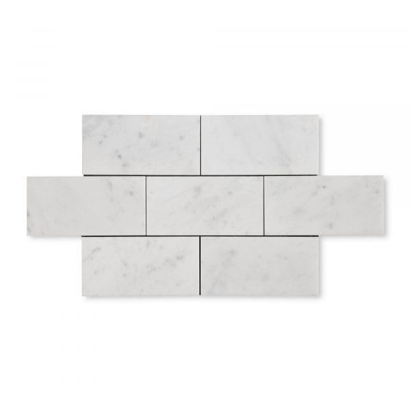 Carrara Bianco Marble - Honed - 6