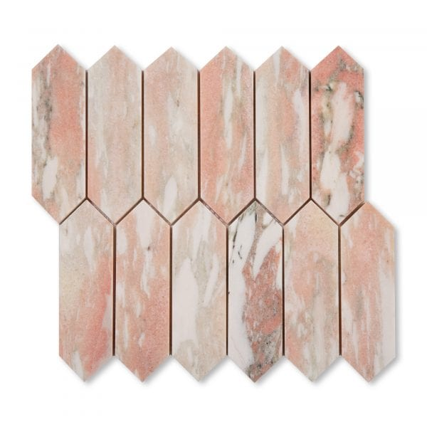 Sample: Norwegian Rose Marble - Honed - Pickett Mosaic