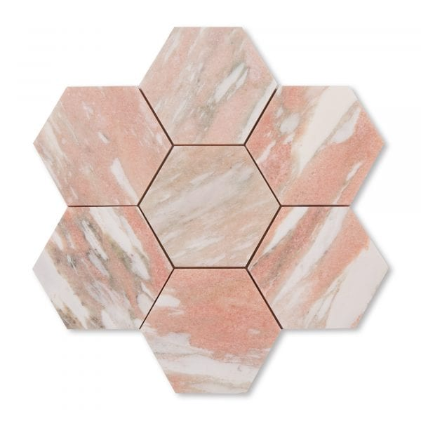 Sample: Norwegian Rose Marble - Honed - 5