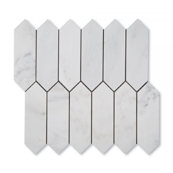 Casablanca Carrara Marble - Honed - Pickett Mosaic