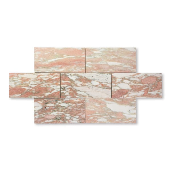 Norwegian Rose Marble - Honed - 6