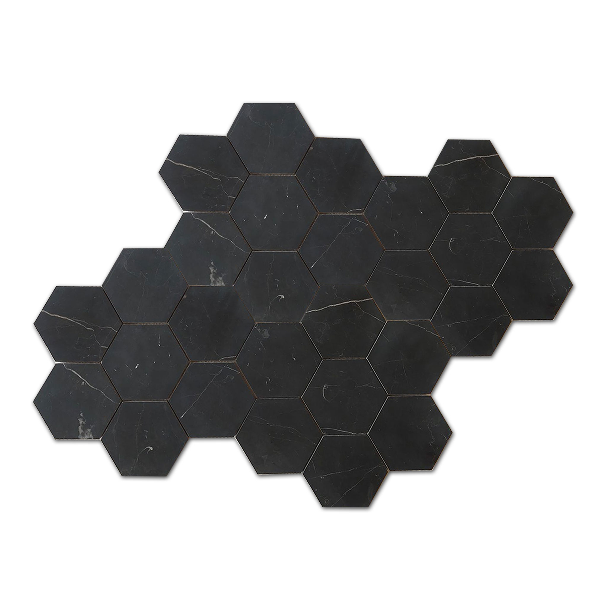 Nero Marquina Black Marble - Honed - 5